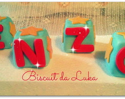 cubos decorativo nome biscuit