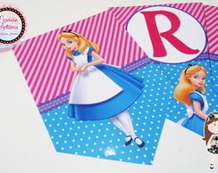 Bandeirola Tema Alice