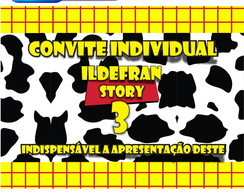 Convite Individual  Toy Story