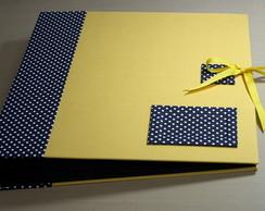 �lbum De Fotos Artesanal Amarelo/Po� PB