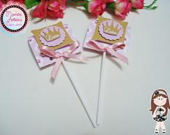 Capa para Pirulito 3D Tema Princesas