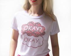 T-shirt Okay A culpa � das estrelas flor