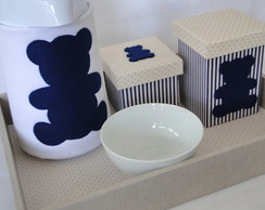 Kit de Higiene Urso Azul Marinho