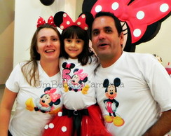 kit 3 camisetas minnie mickey