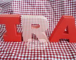 Letra 3D Decorativa Tema Boteco / Picnic