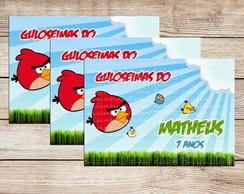 Adesivo para marmitinha Angry Birds