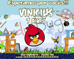 Arte Digital: Convite Angry Birds
