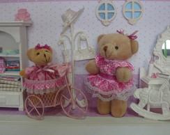 Enfeite Porta Maternidade-Ursinha Feliz