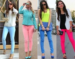 Cal�as Jeans Coloridas
