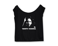 Blusa gola canoa Darth Vedder