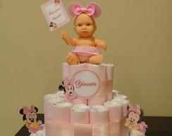 Bolo De Fraldas da Minnie Baby