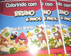 Revistinha para colorir (Angry Birds)