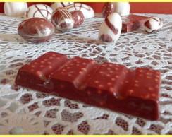 Barrinha de chocolate em sabonete