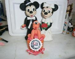 Topo de bolo para casamento personagens