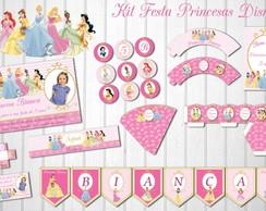Princesas Disney Kit Festa Personalizado