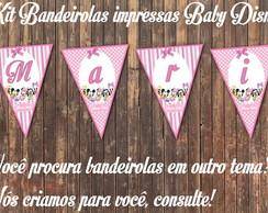 Baby Disney Bandeirolas IMPRESSAS 10