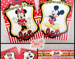 Kit Para Colorir - Minnie e Mickey