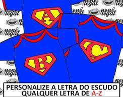 Body Super Homem - Escudo Personalizado