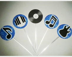 Tags / Toppers para doces - Festa Rock