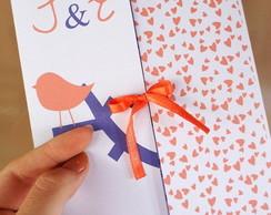 Convite de casamento linha P�ssaros