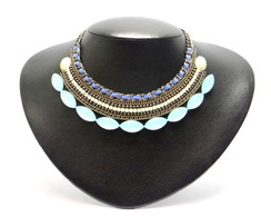 Maxi colar Gypsy Azul (MX265)