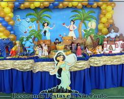 Decora��o Mesa Aladin e Jasmine