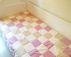 Colcha Para Mini Cama - Patch rosa