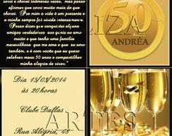 Arte Digital Convite 50 Anos