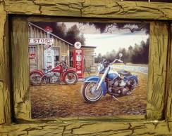 Quadro r�stico de moto