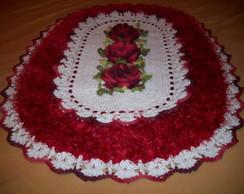tapete flor caracol com fio peludo