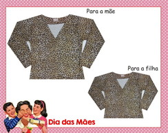 Kit Cardigans M�e e Filha - On�a