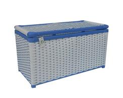 Ba� Fibra Sint�tica Branco Azul 70x34x46