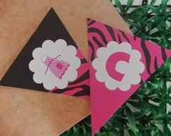 Bandeirinha Ch� de Panela Zebrinha Rosa