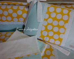 Kit Mini Ber�o Aqua e Amarelo