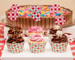 Enfeite de Mesa Saia para Cupcake