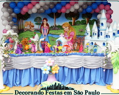 Decora��o Mesa Barbie Castelo Diamantes