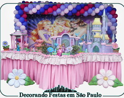 Decora��o Mesa Barbie Escola Princesas