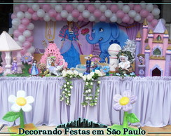 Decora��o Mesa Barbie Princesa da Ilha