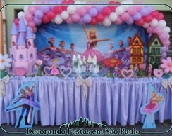 Decora��o Mesa Barbie Sapatilhas M�gicas