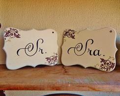Set De Placas Para Casamento Modelo 6