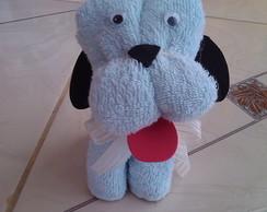 cachorrinho de toalha