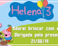40 Tags R�tulos Arraial Peppa Pig