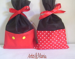 Kit 30 Sacolas Minnie  e Mickey