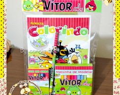 Kit Colorir com Massinha Angry Birds