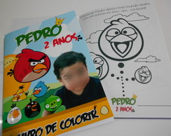 Kit de Colorir Personalizado Angry Birds