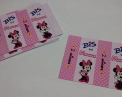 R�tulo Bis Personalizado - Minnie Rosa