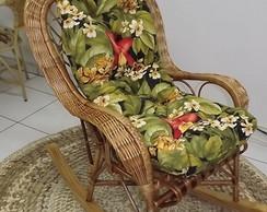 Cadeira de Balan�o em Vime c/ Almofada