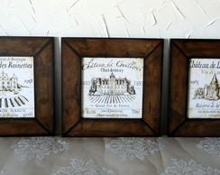 Mod8. Kit 3 Quadros Chateau