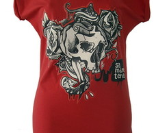Camiseta Cr�nio - Saw Graff