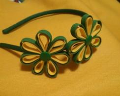 Tiara Copa 2 flores vi�s simples